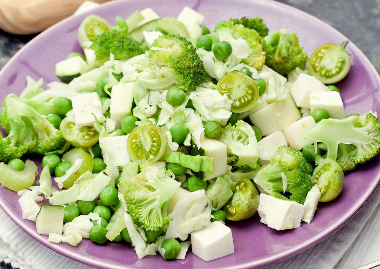 Ingredientes para ensalada de vegetales