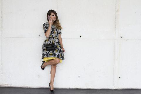 Clothing, Leg, Dress, Sleeve, Human leg, Shoulder, Joint, One-piece garment, Style, Cocktail dress,