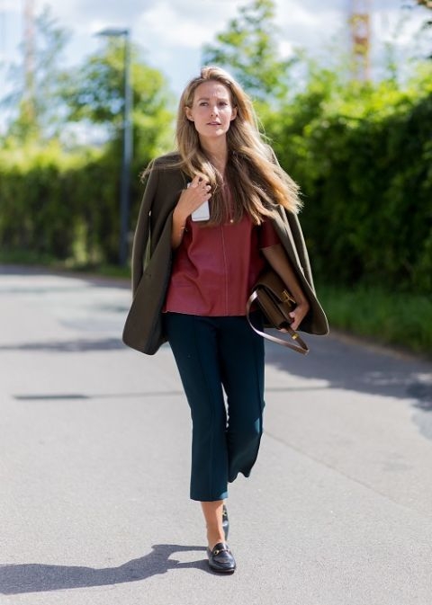 Clothing, Brown, Shoulder, Bag, Textile, Joint, Outerwear, Street fashion, Style, Coat,