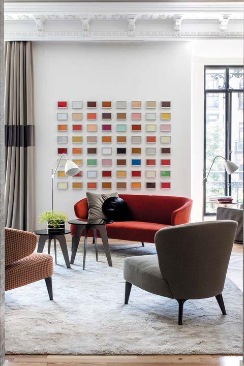Arte y diseño en un piso de Madrid