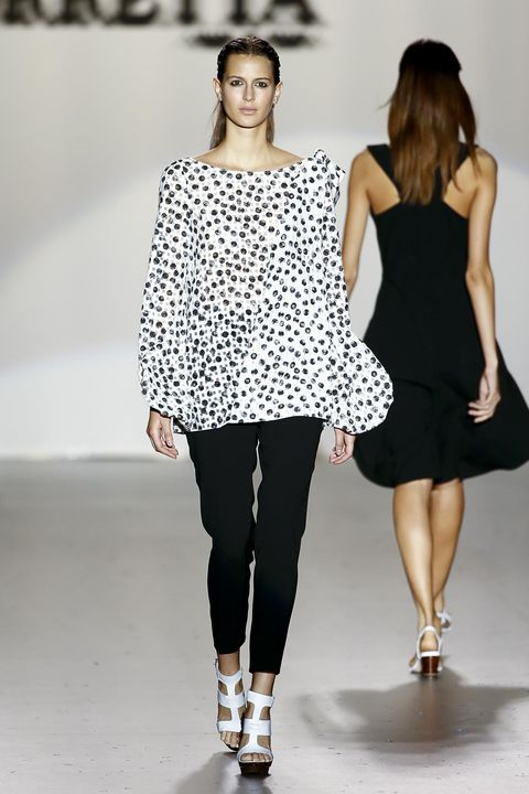 Clothing, Leg, Shoulder, Joint, Outerwear, Style, Fashion model, Pattern, Beauty, Fashion,