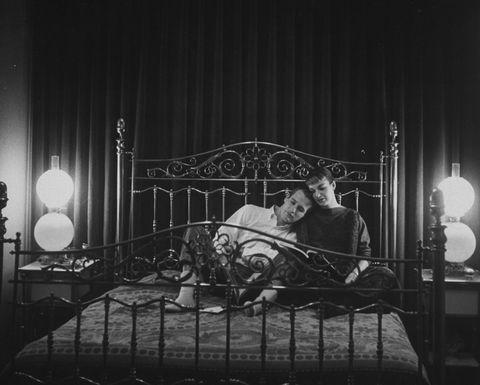 Lighting, Bed, Bed frame, Monochrome, Iron, Bedding, Monochrome photography, Lamp, Black-and-white, Bedroom,