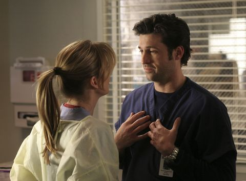 "<p>Meet Dr Meredith Grey, a ""dark and twisty,"" tequila-loving medical resident with serious mommy issues. After a drunken one-night stand, she stumbles to her first day of a prestigious medical residency, and discovers that last night's bedmate is her boss, Derek Shepherd (Patrick Dempsey)—and he's married. Her new BFF, intern Cristina Yang (Sandra Oh), also starts a relationship with her boss, surgeon Preston Burke (Isaiah Washington). The team is rounded out by fellow surgical interns George O'Malley (T.R. Knight), Alex Karev (Justin Chambers), and Izzie Stevens (Katherine Heigl), their hard-driving boss Dr Miranda Bailey (Chandra Wilson), and Chief Richard Webber (James Pickens Jr). Attractive staff plus no social life equals a (kind of hilarious, tbh) syphilis outbreak. </p>"
