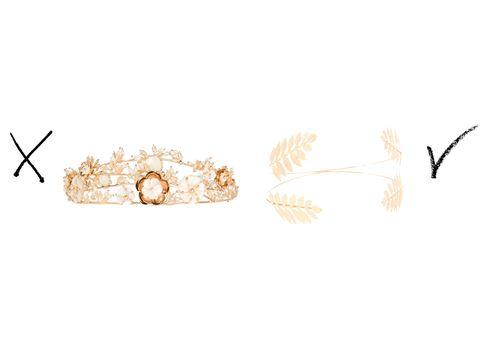 que no debes vestir como invitada a una boda tiara