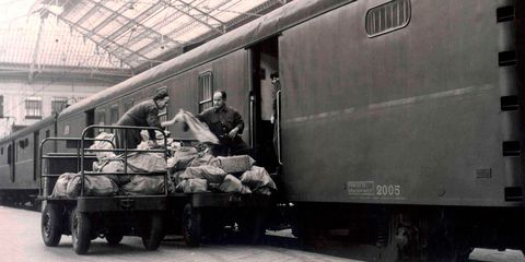 Mode of transport, Transport, Railway, Rolling stock, Train, Iron, Monochrome, Monochrome photography, Railroad car, Metal,