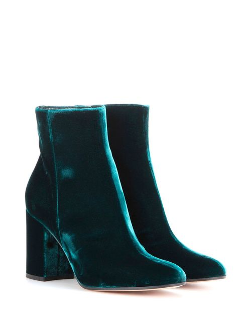 Boot, Teal, Aqua, Turquoise, Leather, Synthetic rubber,
