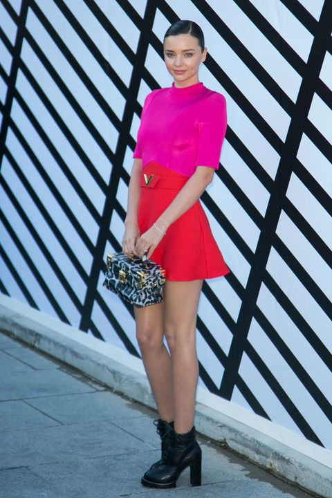 Clothing, Pink, Street fashion, Waist, Fashion, Magenta, Footwear, Shoulder, Snapshot, Fashion model,