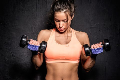 Human body, Sport venue, Chest, Dumbbell, Wrist, Trunk, Abdomen, Muscle, Physical fitness, Professional boxer,