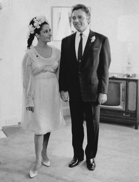 τα πιο διάσημα νυφικά στην ιστορία Elizabeth Taylor Richard Burton