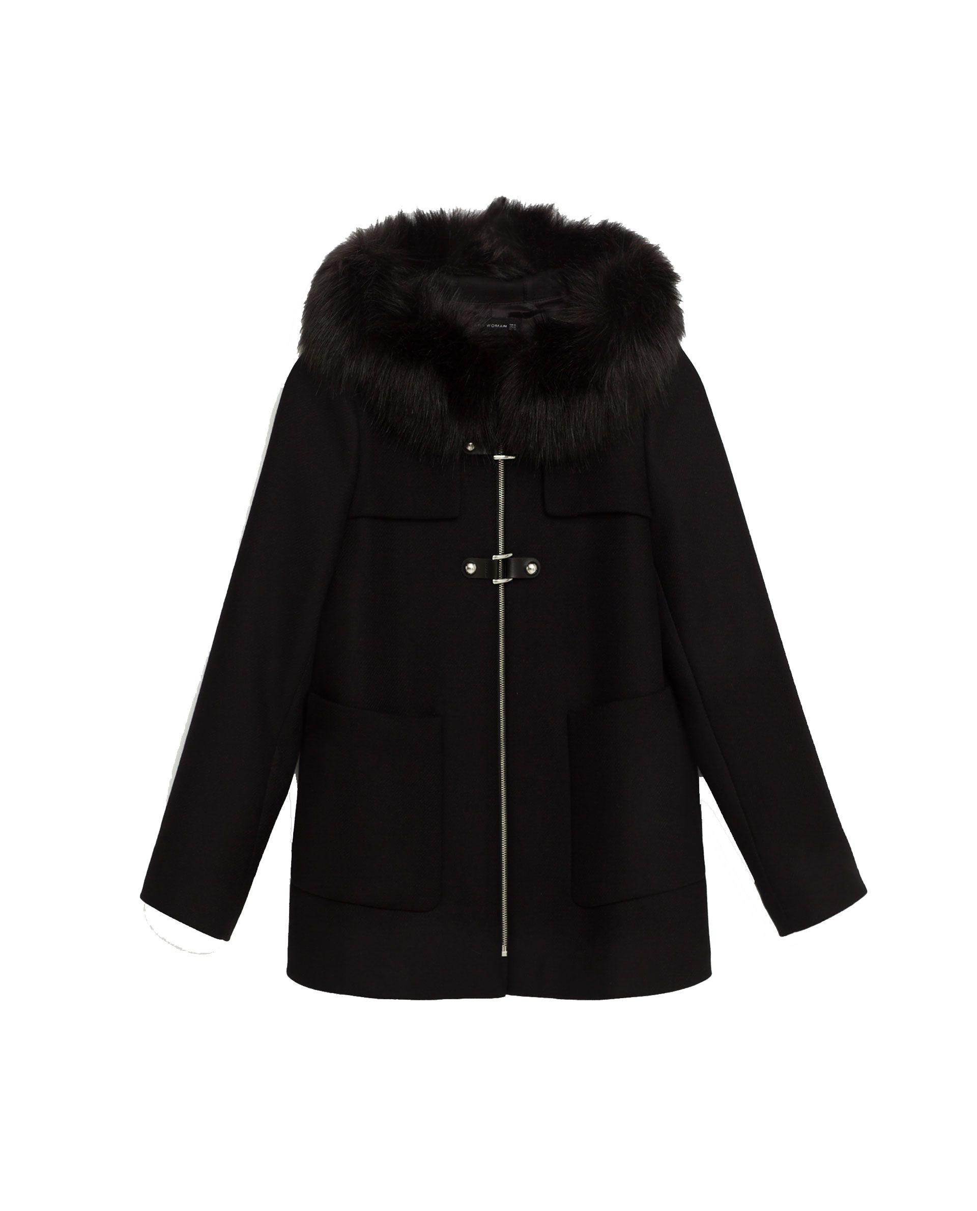 Abrigo negro en zara