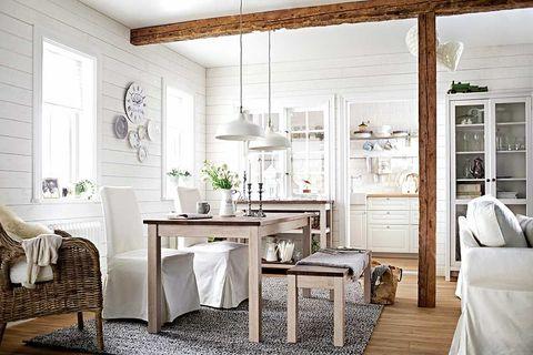 Room, Wood, Interior design, Floor, Table, Home, Furniture, Ceiling, Flooring, Interior design,