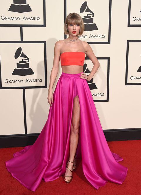 Clothing, Shoulder, Textile, Dress, Red, Pink, Magenta, Style, Formal wear, Flooring,