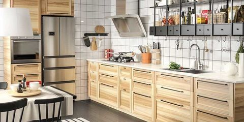 Wood, Room, Interior design, Floor, Countertop, Furniture, Flooring, Kitchen, Drawer, Cabinetry,