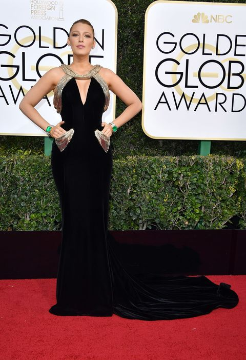 BEVERLY HILLS, CA - JANUARY 08:  Actress Blake Lively attends the 74th Annual Golden Globe Awards at The Beverly Hilton Hotel on January 8, 2017 in Beverly Hills, California.  (Photo by Steve Granitz/WireImage)