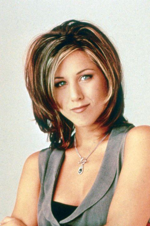 Hair, Face, Hairstyle, Layered hair, Eyebrow, Chin, Bob cut, Blond, Forehead, Brown hair,