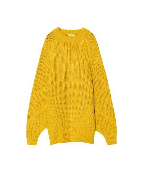 Product, Yellow, Sleeve, Textile, Sweater, Pattern, Woolen, Fashion, Wool, Beige,