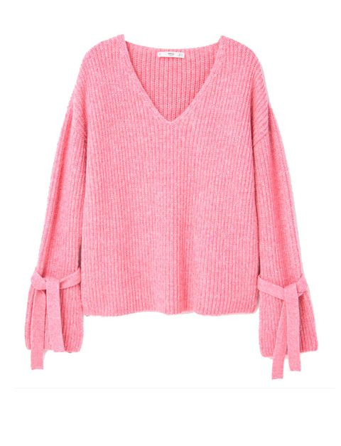 Sweater, Product, Sleeve, Textile, Outerwear, Wool, Red, Pink, Pattern, Magenta,