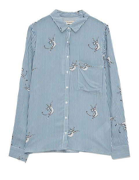 Clothing, Blue, Dress shirt, Product, Collar, Sleeve, Textile, Pattern, Fashion, Baby & toddler clothing,