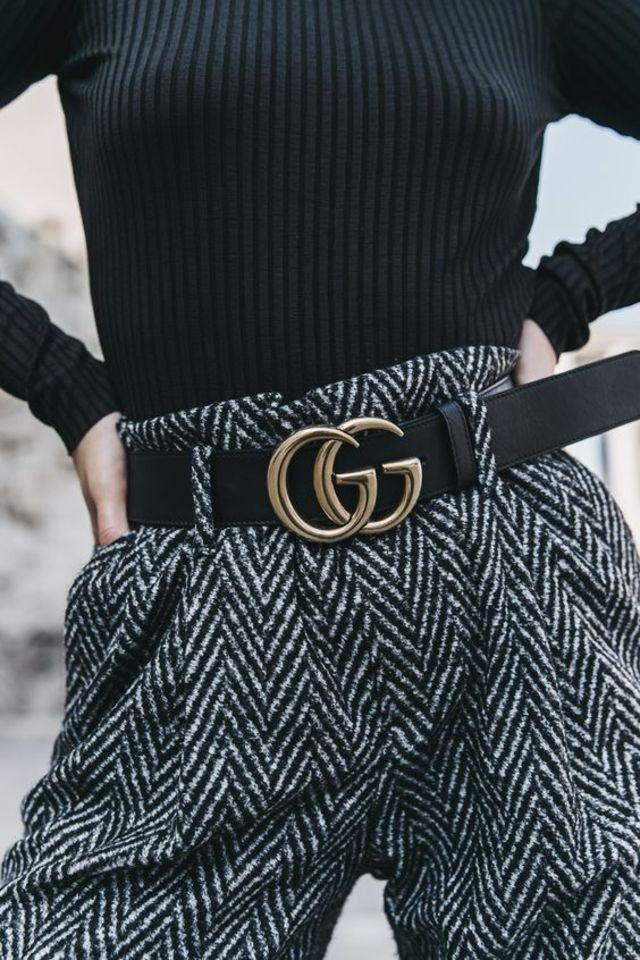 El cinturón con logo es la nueva tendencia estrella en instagram 7204304f6c7