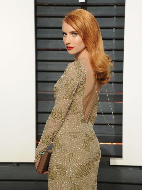 Sleeve, Shoulder, Dress, Red hair, Beauty, Fashion model, Liver, Brown hair, Model, Day dress,