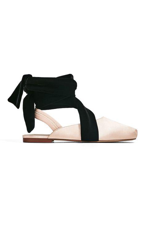 Footwear, Shoe, Slingback, Sandal, Joint, Beige, Leg, Court shoe, Leather, Mary jane,