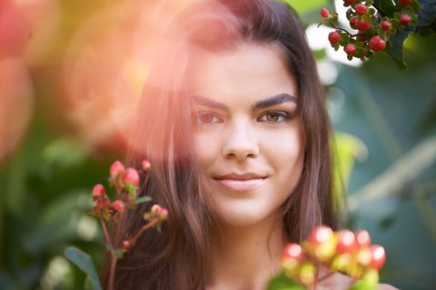 Face, Beauty, Skin, Lip, Close-up, Photography, Plant, Smile, Spring, Flower,