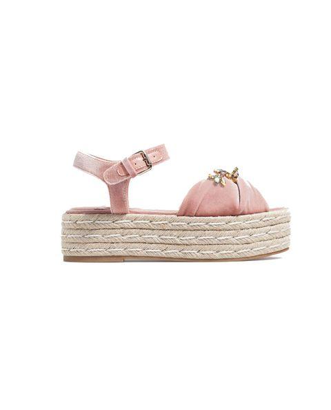 Footwear, Pink, Shoe, Beige, Espadrille, Fashion accessory, Sandal,
