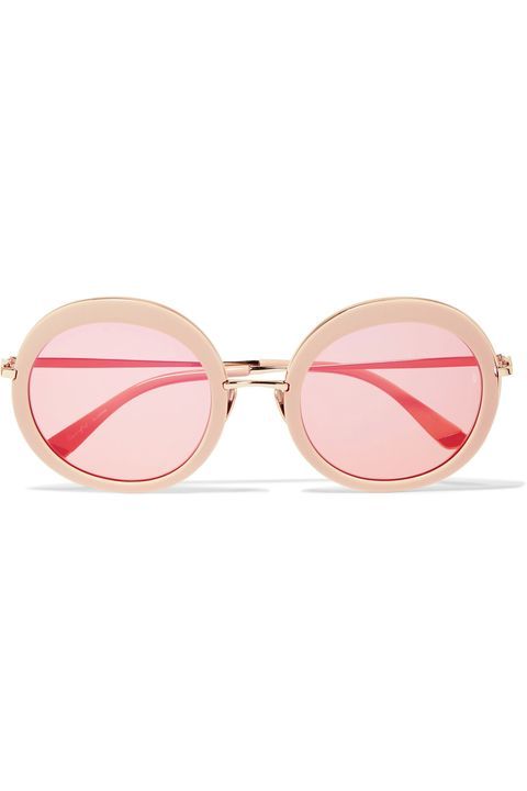 Eyewear, Sunglasses, Glasses, Pink, Personal protective equipment, Vision care, Goggles, aviator sunglass, Peach, Transparent material,