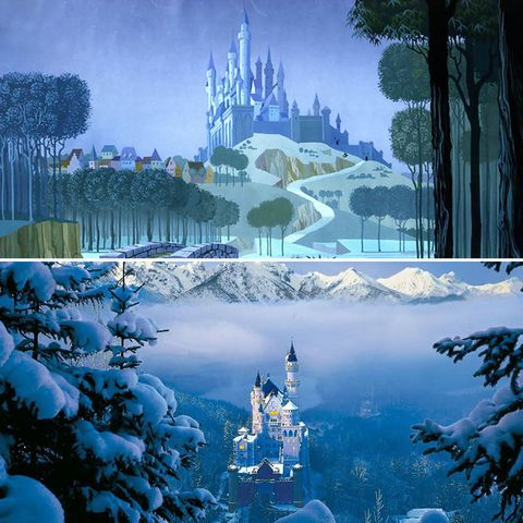 World, Sky, Winter, Freezing, Tree, Theatrical scenery, Ice, Architecture, Illustration, Space,