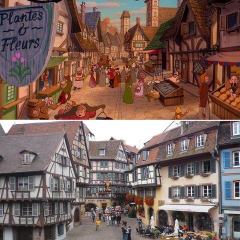 Town, Human settlement, Building, Architecture, City, Neighbourhood, Street, Illustration, Mixed-use, Tourism,