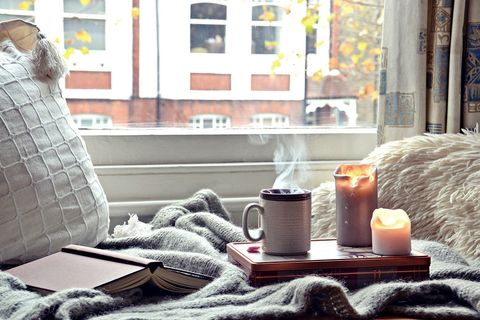 Room, Living room, Morning, Table, Furniture, Home, Window, Interior design, Couch, Textile,