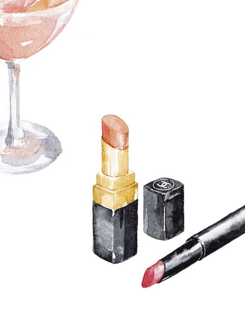 Lipstick, Wine bottle, Bottle,