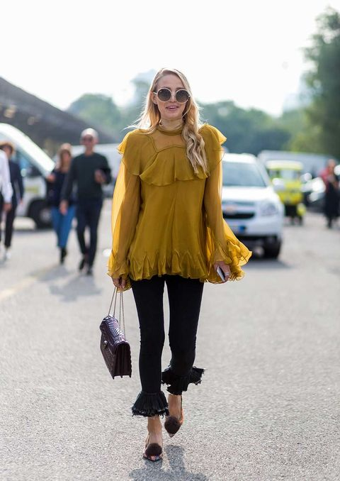 Clothing, Street fashion, Yellow, Photograph, Fashion, Snapshot, Footwear, Outerwear, Shoulder, Ankle,