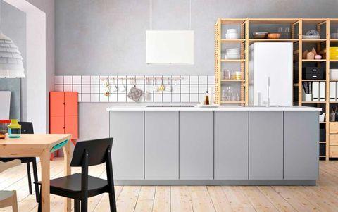 Floor, Room, Flooring, Interior design, Countertop, Glass, Fixture, Tile, Interior design, Grey,