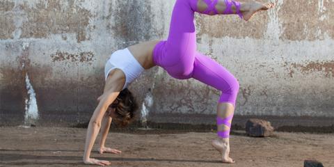 Physical fitness, Yoga, Purple, Stretching, Leg, Joint, Performance, Performance art, Sportswear, yoga pant,