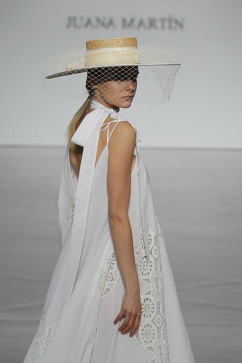 Clothing, White, Dress, Fashion, Gown, Bridal accessory, Wedding dress, Shoulder, Fashion design, Fashion model,