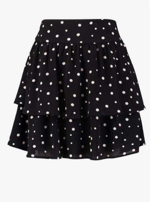 Clothing, Pattern, Black, Polka dot, Dance, Design, Fashion, Performing arts, Pattern, A-line,