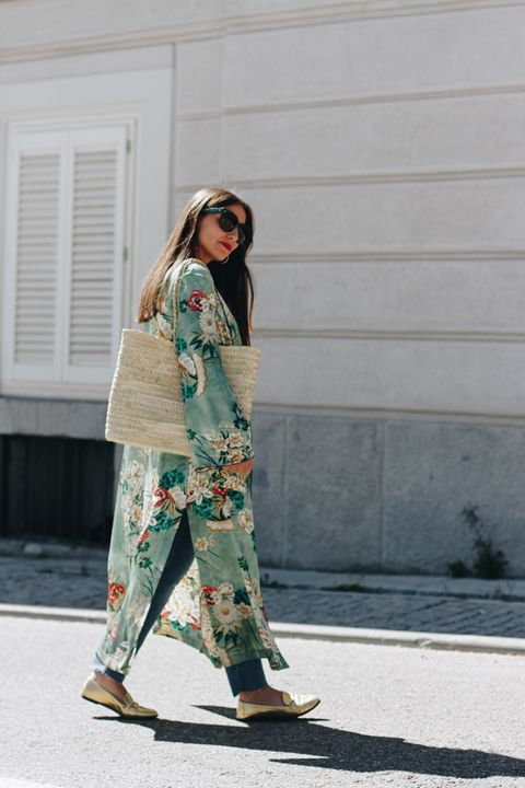 Clothing, Sleeve, Textile, Standing, Outerwear, Sunglasses, Style, Street fashion, Pattern, Bag,