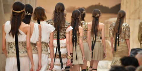 Hair, Fashion, Hairstyle, Fashion design, Event, Dress, Long hair, Fashion accessory, Hair accessory, Hair coloring,