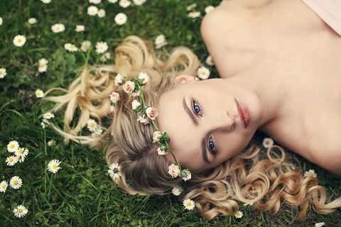 Lip, Eyelash, Style, Petal, Beauty, Eye shadow, Eye liner, Photography, Blond, Earrings,