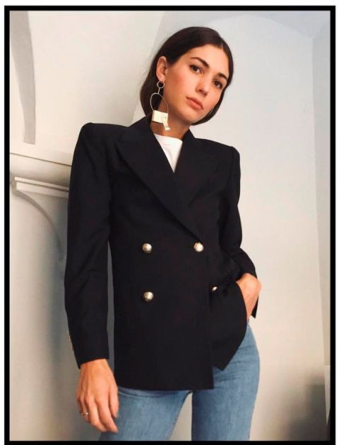 Clothing, Outerwear, Suit, Blazer, Formal wear, Jacket, Top, Sleeve, Tuxedo, Coat,