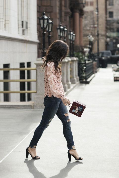 White, Street fashion, Clothing, Shoulder, Jeans, Fashion, Beauty, Footwear, Snapshot, Waist,