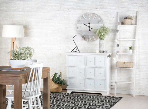 White, Furniture, Room, Wall, Interior design, Product, Chest of drawers, Table, Floor, Shelf,