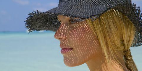 Hair, Clothing, Skin, Hat, Head, Chin, Fashion accessory, Sun hat, Headgear, Fun,