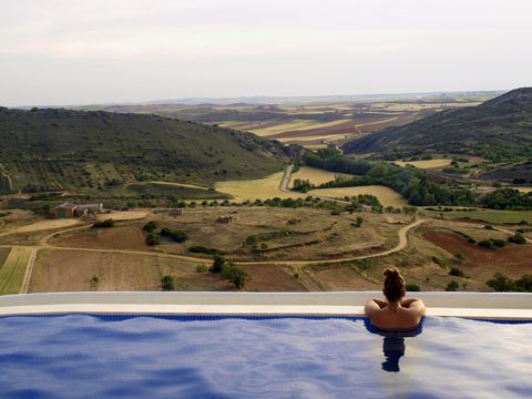 Sky, Swimming pool, Vacation, Hill, Water, Summer, Tree, Leisure, Mountain, Tourism,