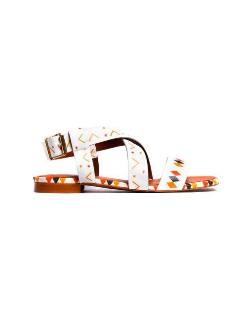 Orange, Footwear, Font, Shelf,