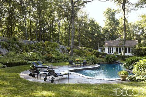Plant, Garden, Landscape, Outdoor furniture, Shrub, Yard, Lawn, Park, Landscaping, Backyard,