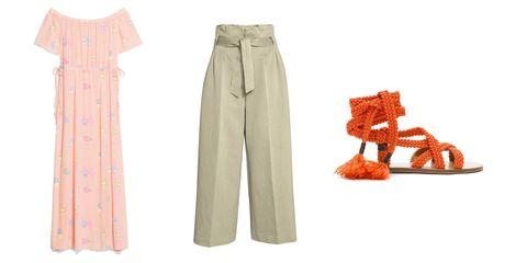 Sleeve, Collar, Khaki, Orange, Pattern, Tan, Peach, Beige, One-piece garment, Day dress,