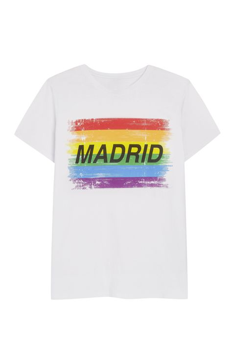 T-shirt, White, Clothing, Product, Top, Text, Yellow, Sleeve, Font, Active shirt,