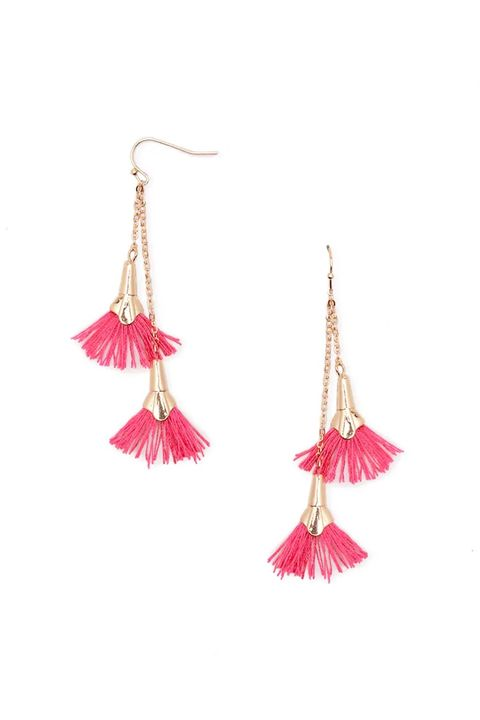 Earrings, Pink, Jewellery, Fashion accessory, Magenta, Feather,